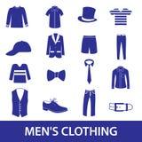 Mens clothing icon set eps10 Royalty Free Stock Photo