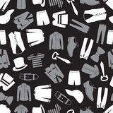 Mens clothing seamless pattern eps10 Royalty Free Stock Image