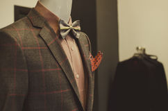 Mens clothing shop stock photography