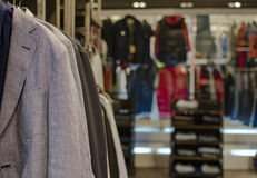 Mens clothing shop Royalty Free Stock Images