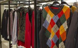 Mens clothing shop Royalty Free Stock Photo