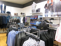 Mens clothing store. Royalty Free Stock Photo