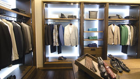 Mens clothing store. A luxury store with mens clothing Royalty Free Stock Image