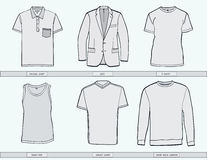 Mens clothing templates. Royalty Free Stock Photography