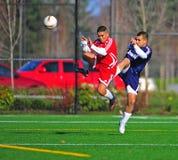 Mens Club Soccer Blocking Royalty Free Stock Photography