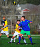 Mens club Soccer Eye on the ball Royalty Free Stock Image