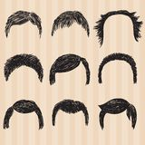 Mens  collection for hair styling Stock Images
