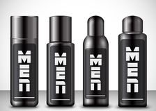 Mens cosmetic bottles Royalty Free Stock Images