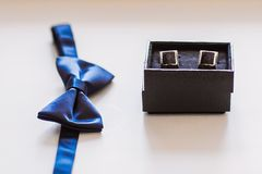 Mens cufflinks Royalty Free Stock Images