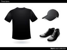 mens czarny inkasowa odzież Fotografia Royalty Free
