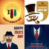 Mens day banner set, cartoon style. Mens day banner set. Cartoon illustration of mens day vector banner set for web design vector illustration