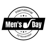 Mens day icon, simple style stock illustration