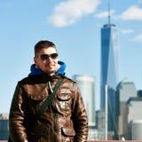 Mens in de Stad van New York Royalty-vrije Stock Foto