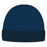Mens de winter gebreid GLB De hoeden van het ontwerppatroon Brei meetkundekappen, jacquard, manier, stijl, tendens stock illustratie