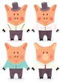 Mens dei maiali del fumetto illustrazione vettoriale