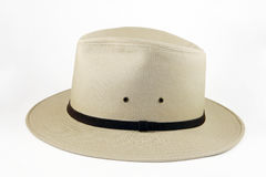 Mens designer beige brimmed hat Stock Photo