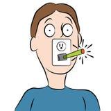 Mens die Abstracte Elektronische Sigaret roken Royalty-vrije Stock Foto