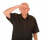 Mens die afstand onderzoekt Stock Afbeelding