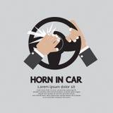 Mens die de Hoorn in een Auto toeteren vector illustratie