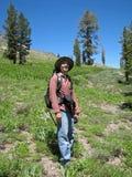 Mens die de Siërra Nevadas wandelt Royalty-vrije Stock Afbeelding