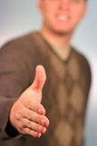 Mens die een handdruk geeft Royalty-vrije Stock Foto's