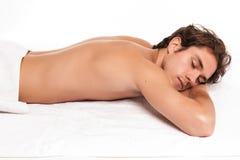 Mens die een massage ontvangen. Stock Fotografie