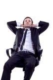 Mens die een snelle slaap heeft Stock Afbeelding