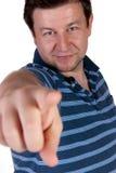 Mens die een vinger richt Royalty-vrije Stock Foto
