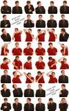 Mens die hartvorm maakt Stock Fotografie