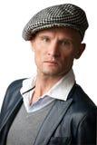 Mens die hoed draagt Stock Foto