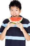 Mens die Meloen eet royalty-vrije stock afbeeldingen