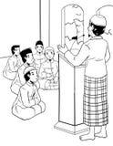 Mens die in Moskee prediken stock illustratie