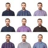 Mens die Overhemden draagt stock fotografie