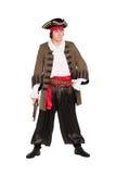 Mens die piraatkostuum dragen Stock Afbeelding