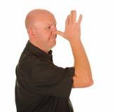 Mens die ruw gebaar maakt Royalty-vrije Stock Afbeelding