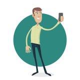 Mens die selfie maken Vector Illustratie