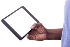 Mens die tablet gebruiken Royalty-vrije Stock Afbeeldingen
