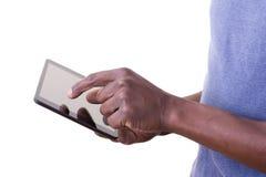 Mens die tablet gebruiken Royalty-vrije Stock Fotografie