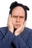 Mens die tandpijn aan grimas lijdt Stock Foto's