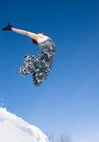 Mens die van een klip springt Royalty-vrije Stock Foto's