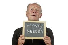 Mens die voor geld bedelt Royalty-vrije Stock Foto's