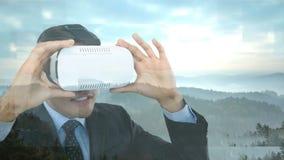 Mens die VR-Video gebruiken