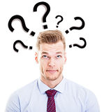 Mens die vragen stellen Stock Afbeelding