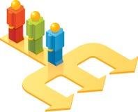 Mens drie van ISO_Three van de Mensen van het stuk speelgoed keus Stock Afbeelding