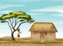 Mens e una casa royalty illustrazione gratis