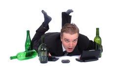 Mens en bier Stock Afbeelding