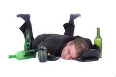 Mens en bier Royalty-vrije Stock Afbeelding