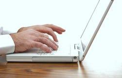Mens en computer Stock Afbeelding