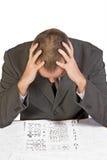 Mens en de test van de IQ Stock Afbeelding