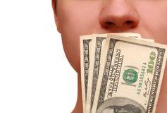 Mens en geld Royalty-vrije Stock Afbeelding